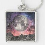 Luna sobre el lago mountain llaveros personalizados