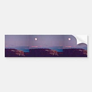 Luna sobre el monumento nacional del EL Morro Pegatina De Parachoque
