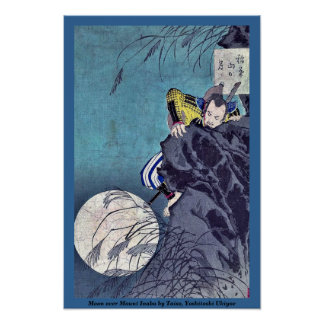 Luna sobre el soporte Inaba por Taiso, Yoshitoshi  Impresiones