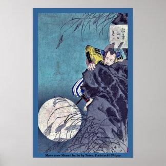 Luna sobre el soporte Inaba por Taiso, Yoshitoshi  Póster
