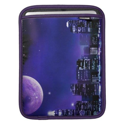 Luna sobre fantasía de la ciudad funda para iPads