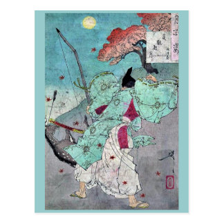 Luna sobre Jogan Pasillo por Taiso, Yoshitoshi Postales
