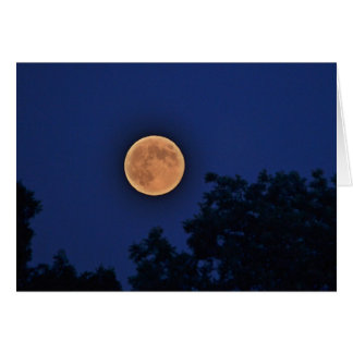 Luna sobre la granja Notecard de Parmelee