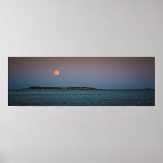 Luna sobre la isla de Sambro Impresiones