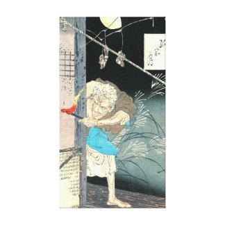 Luna sobre la vivienda sola 1880 impresión en lona estirada