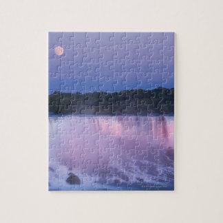 Luna sobre Niagara Falls Puzzles Con Fotos