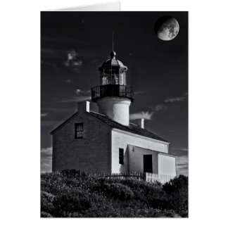 Luna sobre Point Loma Tarjeta Pequeña