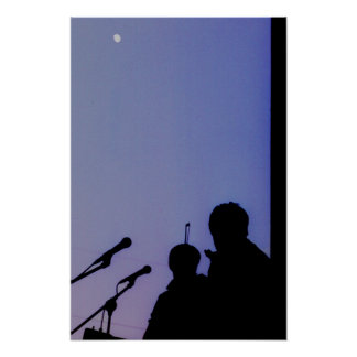 Luna sobre San Pablo Póster
