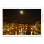 Luna sobre Venecia Tarjetas