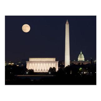 Luna sobre Washington DC Tarjetas Postales