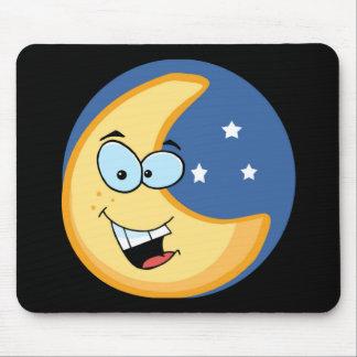Luna sonriente alfombrilla de raton