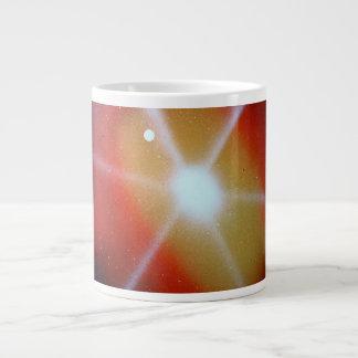 luna spacepainting estallada sol rojo amarillo taza grande