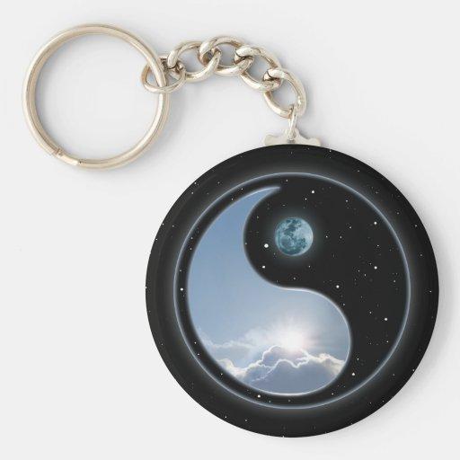 Luna Sun de Yin Yang Llavero Personalizado