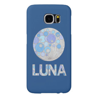 Luna The Full Moon Blue And Purple Space Geek Samsung Galaxy S6 Case