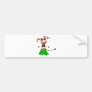 Luna the hula-hula moo-cow bumper stickers