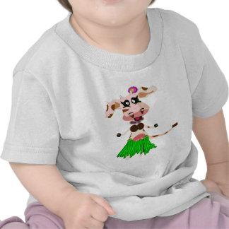 Luna, the hula-hula moo-cow. t-shirts