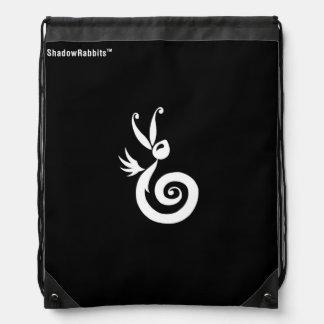 Luna the Shadow Rabbit Drawstring Bag