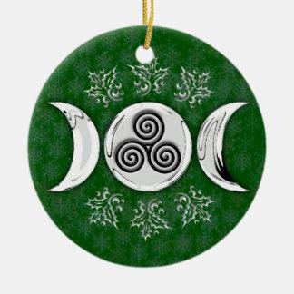 Luna triple y espiral triple #17 adorno para reyes