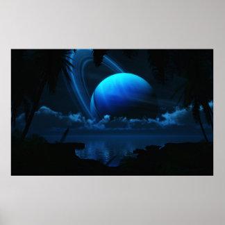 Luna tropical de Thetis sin frontera Posters