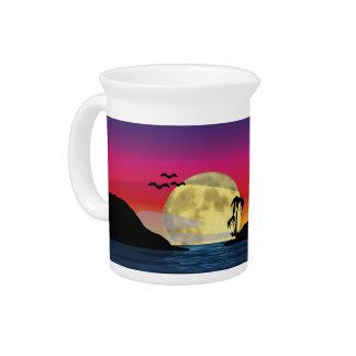 Luna tropical jarra para bebida
