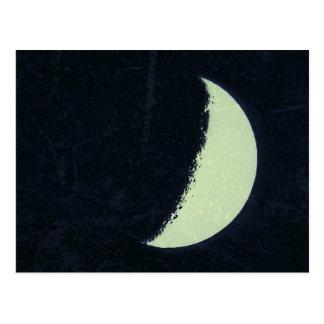 Luna verde tarjetas postales