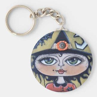 Luna Witch Halloween Keychain