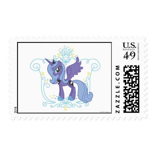 Luna with Crown Postage Stamp