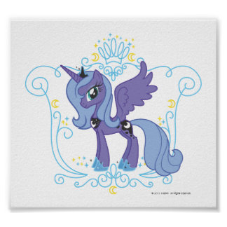 Luna with Crown Poster