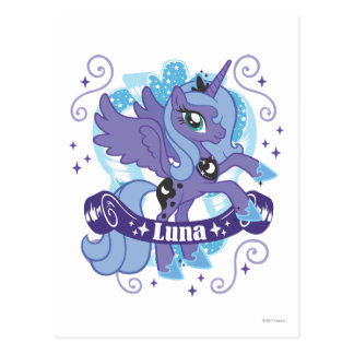 Luna with Scroll Postcard