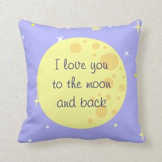 Luna y almohada del personalizable de las estrella