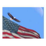 Luna y bandera de Eagle Postal