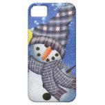 Luna y copo de nieve crecientes del muñeco de iPhone 5 Case-Mate protector