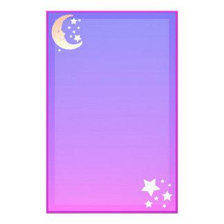 Luna y efectos de escritorio de las estrellas papeleria personalizada