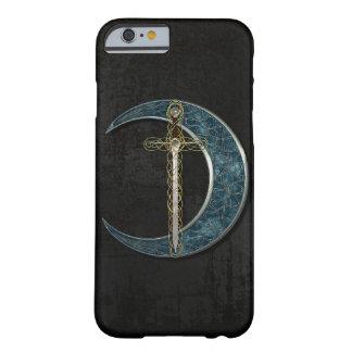 Luna y espada célticas funda de iPhone 6 barely there