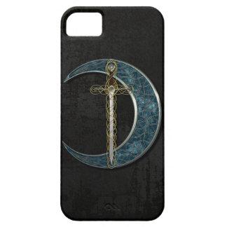 Luna y espada célticas iPhone 5 funda