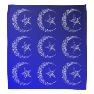 Luna y estrella crecientes afiligranadas bandana