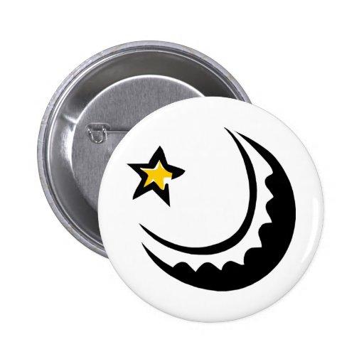 Luna y estrella crecientes Swoosh Pin