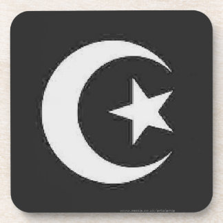 Luna y estrella islámicas posavaso