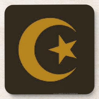 Luna y estrella islámicas posavasos