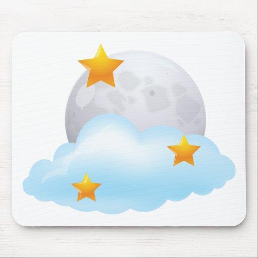 Luna y estrellas alfombrilla de raton