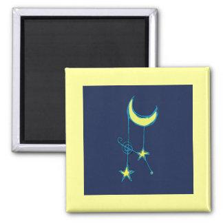 Luna y estrellas caprichosas imán