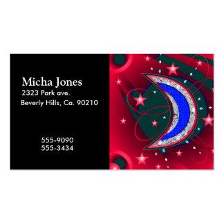 Luna y estrellas crecientes de electrificación de tarjetas personales
