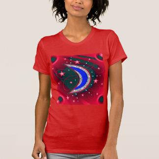 Luna y estrellas crecientes de electrificación de camisetas