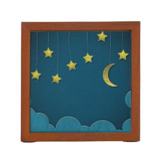 Luna y estrellas de papel
