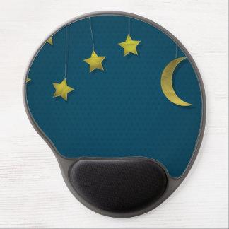 Luna y estrellas de papel alfombrillas con gel