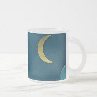 Luna y estrellas de papel taza cristal mate