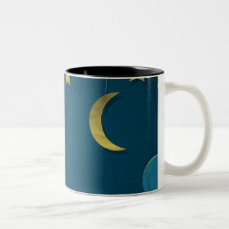 Luna y estrellas de papel taza dos tonos