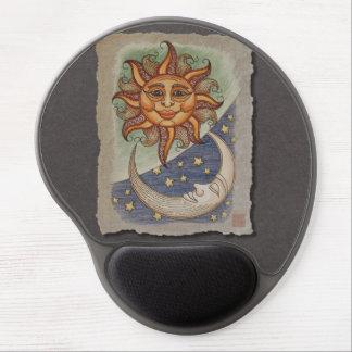 Luna y estrellas de Sun Alfombrilla De Ratón Con Gel
