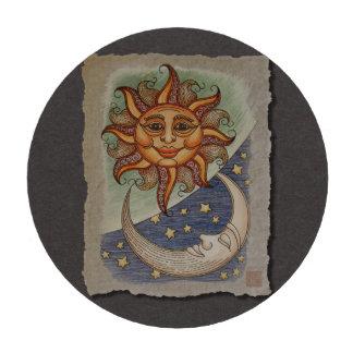 Luna y estrellas de Sun Fichas De Póquer