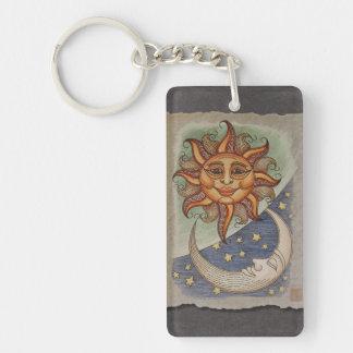 Luna y estrellas de Sun Llaveros